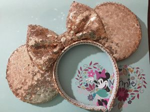 rose gold minnie mouse ears