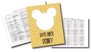 Free Disney Planning Printables