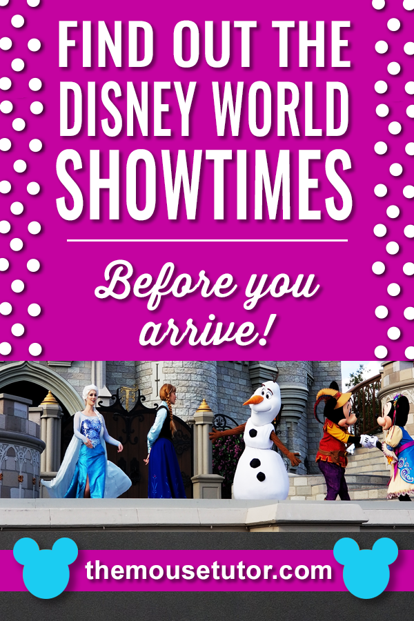 Part of the magic of Disney World is all the shows and performances happening all day throughout the parks. Find out what's available and the times before you ever get there.   #disneyworldtips #disneyworld #disneyworldplanning