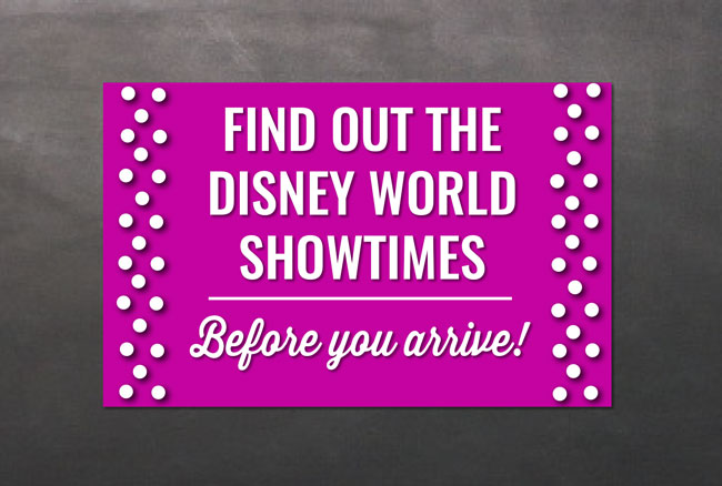 Disney World Showtimes
