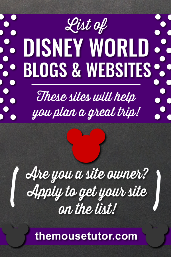 Here\'s our list of Disney World blogs & websites to check out while planning your trip!